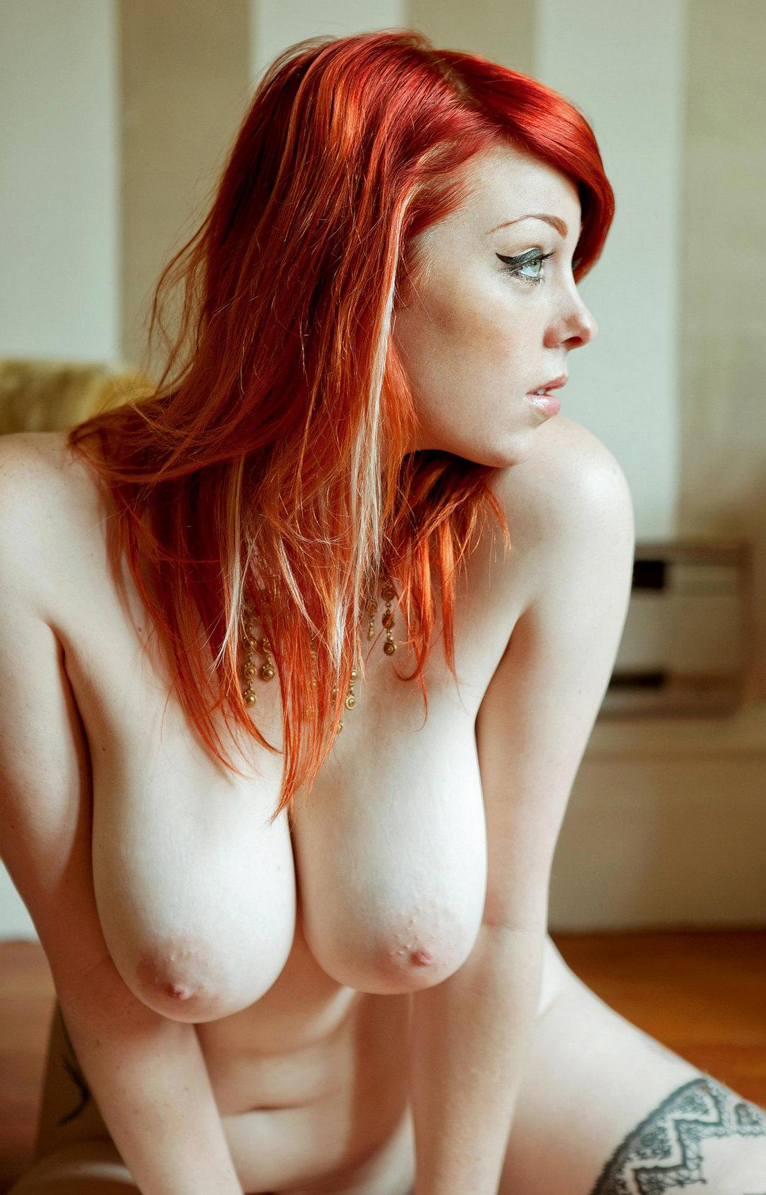 tit redheads big Naked